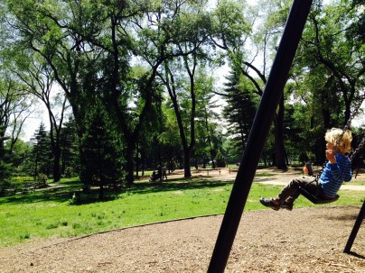 Swinging in Central Park