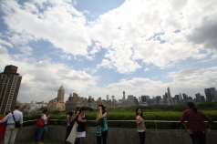 On top of the Met roof/cafe. Great views.