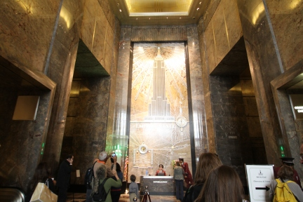 The entrance to the Empire State Building
